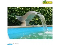 Birdie Led Waterval - roestvrij staal 316 L - 20 Leds blauw - 35 x 60 x h30,5 cm