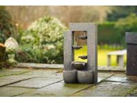 """AA BERN - waterornement decoratie """"4 schalen"""" met waterreservoir gemaakt van polyresin - 350l/h LV - H59,5 x 33,5 x 21,5 cm"""