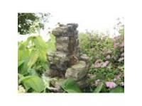 """AA CHIOS - waterornement decoratie """"mini-waterval rots"""" rustiek met waterreservoir gemaakt van polyresin - 600l/h, 3x(1x8) Leds - H58 x 47 x 32 cm"""