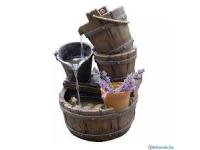 """AA HALIFAX - waterornement decoratie """"vatten en emmers"""" rustiek gemaakt van polyresin - 350l/h - H56,5 x 38,5 x 34 cm"""
