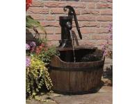AA NEW CASTLE - rustieke houten vat met hand pomp bekleed van kunstoff voor volledige afdichting - 350l/h - +/-H75 x 60 cm