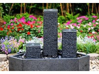 Fountain Alaska (Stand 15x15x15,30,50cm,polish-basin graniet 55x55x25cm) zwart.. Formaat: 55x55x75cm