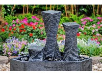 Fountain Crystal New Jersey (Stand 15x15x15,30,50cm,polish-basin, graniet 55x55x25cm) zwart.. Formaat: 55x55x75cm
