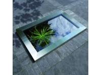 QUADRA InoxFrame - van roestvrij staal voor Quadra C3 - 8 cm / 83 x 120 cm